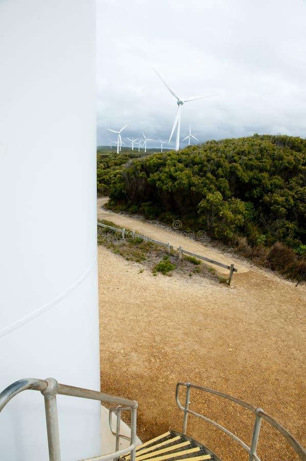 阿尔巴尼风力场 免版税库存照片