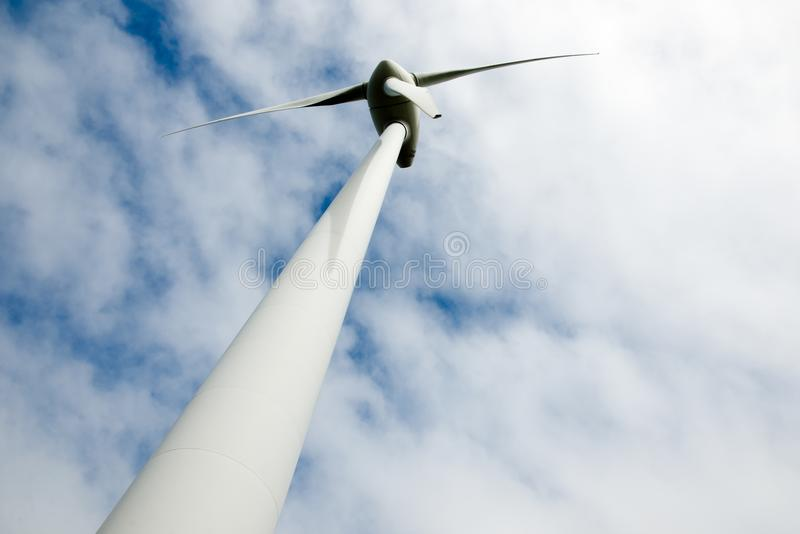 阿尔巴尼风轮机 免版税库存图片