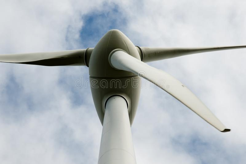 阿尔巴尼风轮机 库存照片