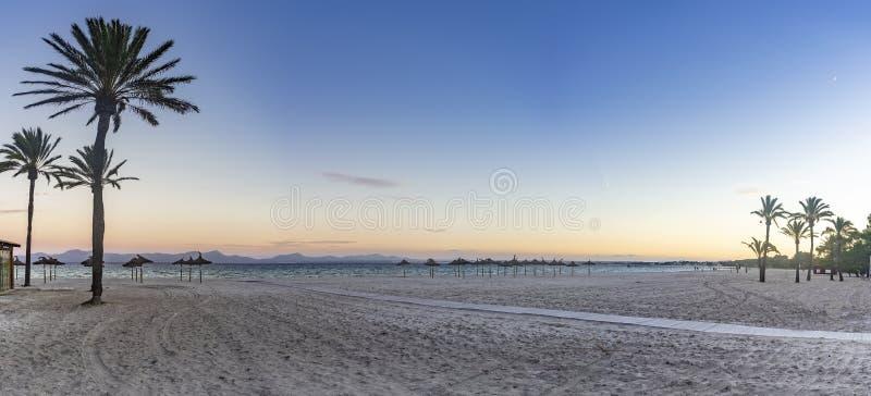 阿尔库迪亚港海滩 库存图片