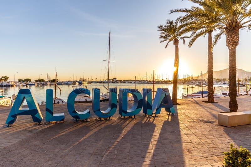 阿尔库迪亚签到Puerto阿尔库迪亚 免版税库存照片