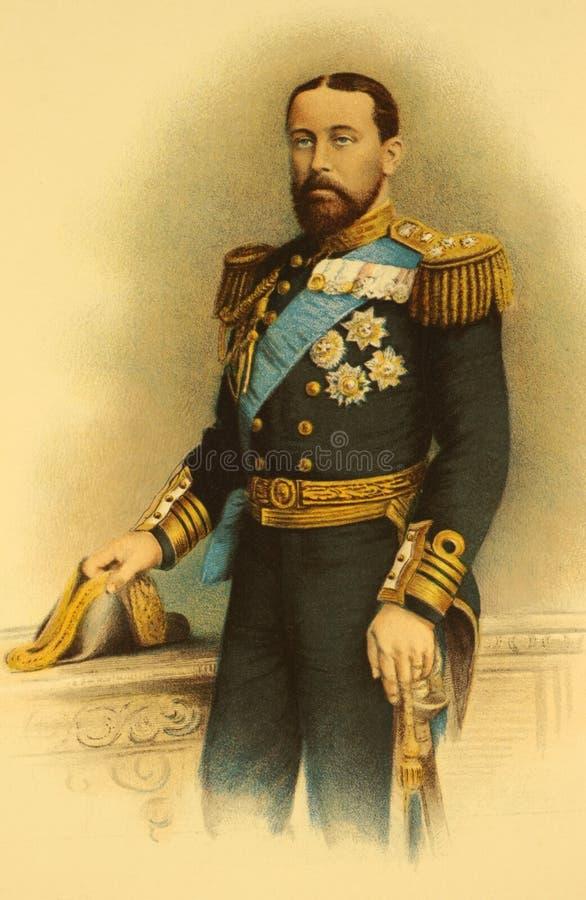 阿尔弗莱德・科堡公爵gotha saxe 向量例证