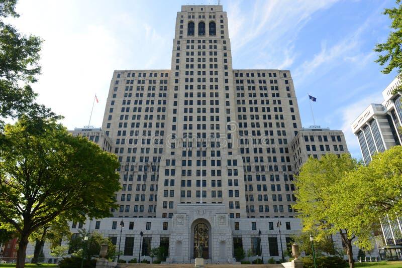 阿尔弗莱德E 史密斯大厦,阿尔巴尼, NY,美国 免版税库存照片