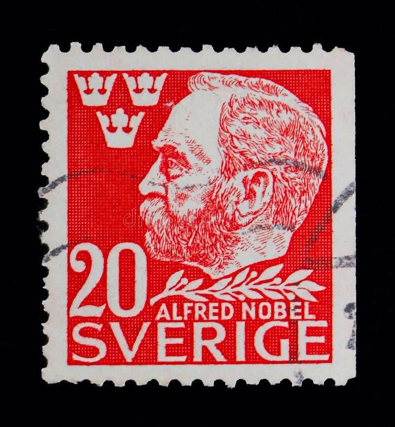 阿尔弗雷德・诺贝尔, serie,大约1946年 库存例证