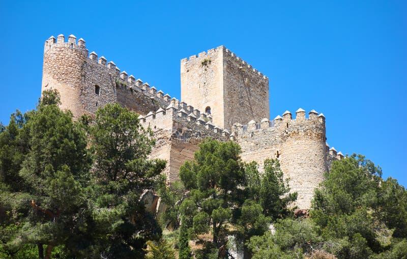 阿尔曼萨城堡在西班牙的阿尔瓦萨特 免版税库存图片