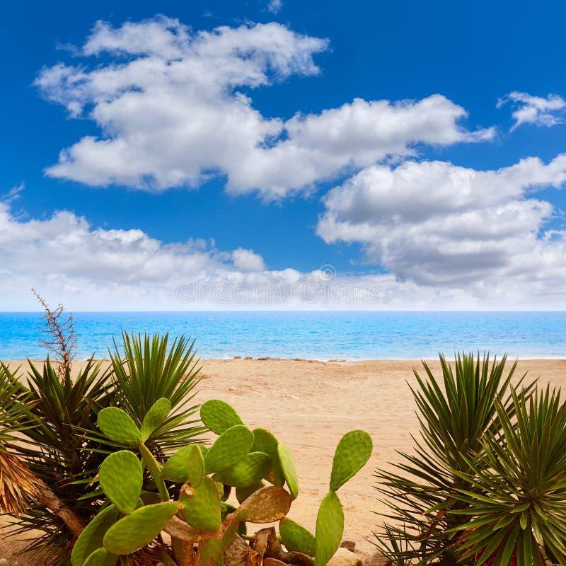 阿尔梅里雅Mojacar海滩地中海西班牙 免版税库存图片