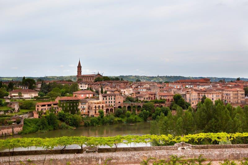 阿尔比,法国老镇  免版税图库摄影
