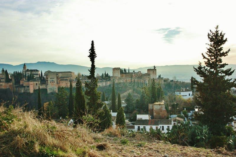 阿尔汉布拉卡洛斯de格拉纳达宫殿v 图库摄影