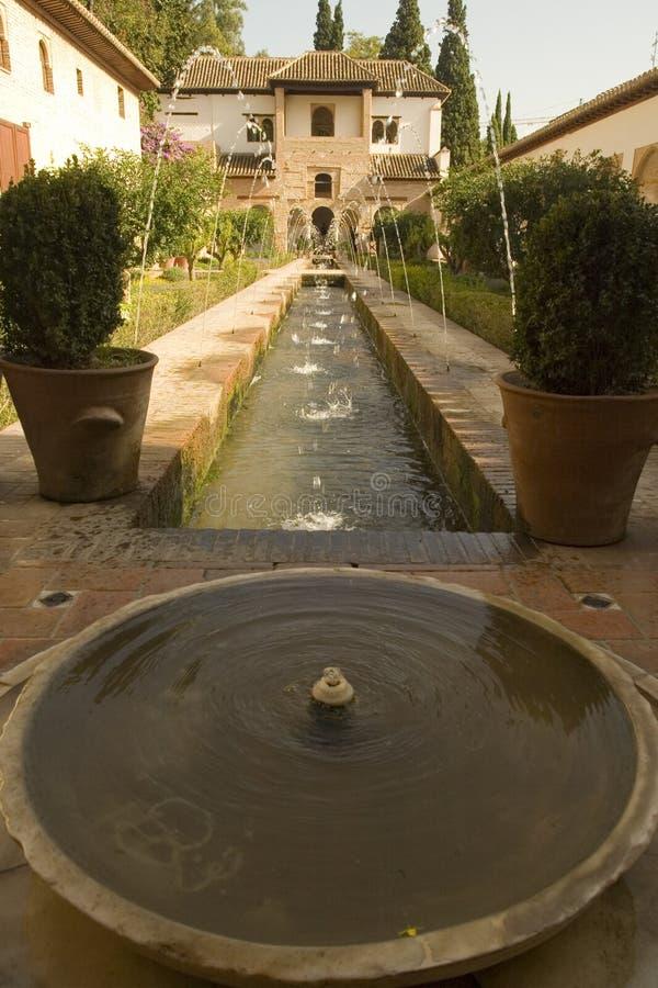 阿尔汉布拉喷泉 免版税库存图片