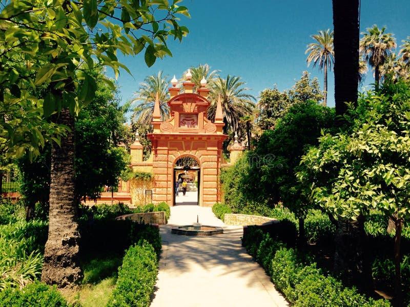 阿尔汉布拉庭院 库存图片