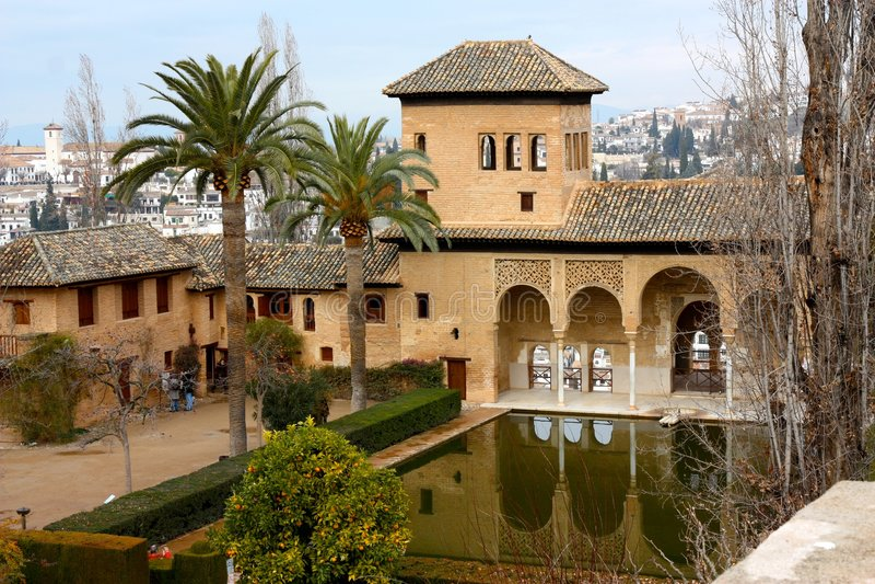 阿尔汉布拉格拉纳达宫殿西班牙 免版税图库摄影