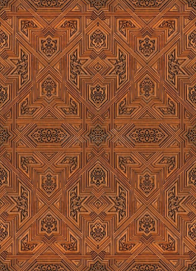 阿尔汉布拉阿拉伯宫殿模式无缝的纹&# 库存图片