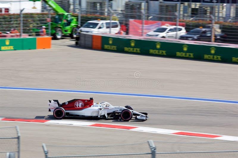 阿尔法・罗密欧Sauber F1队的马尔库斯爱立信 公式1 索契俄罗斯 库存图片