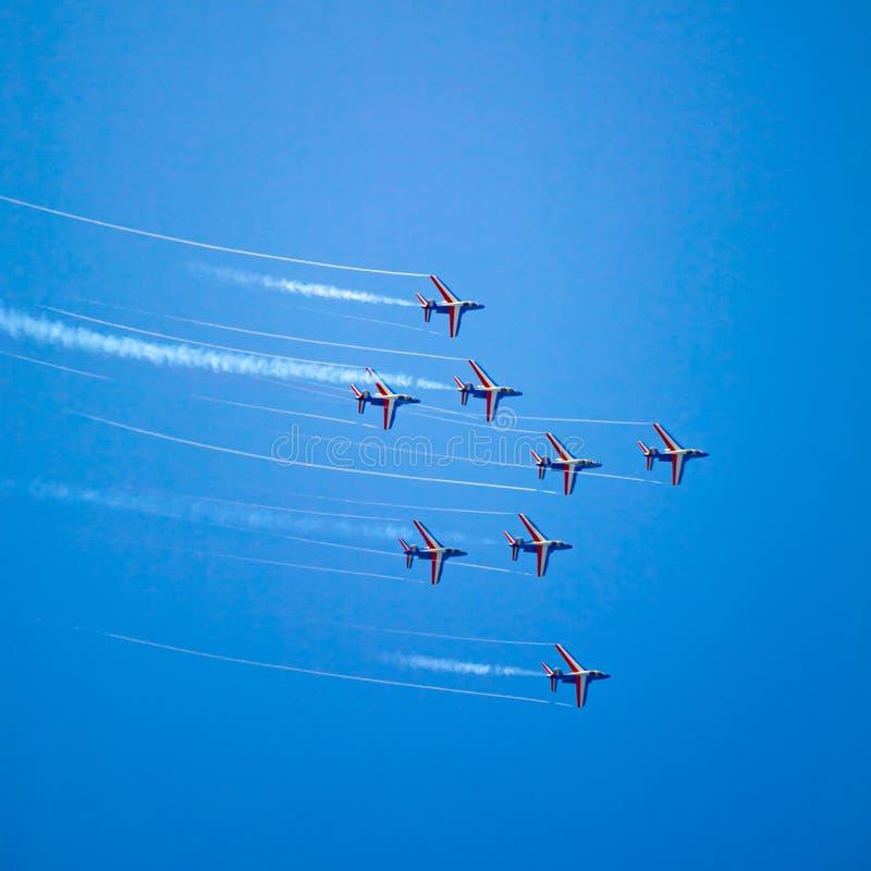 阿尔法喷气机airshow 库存照片