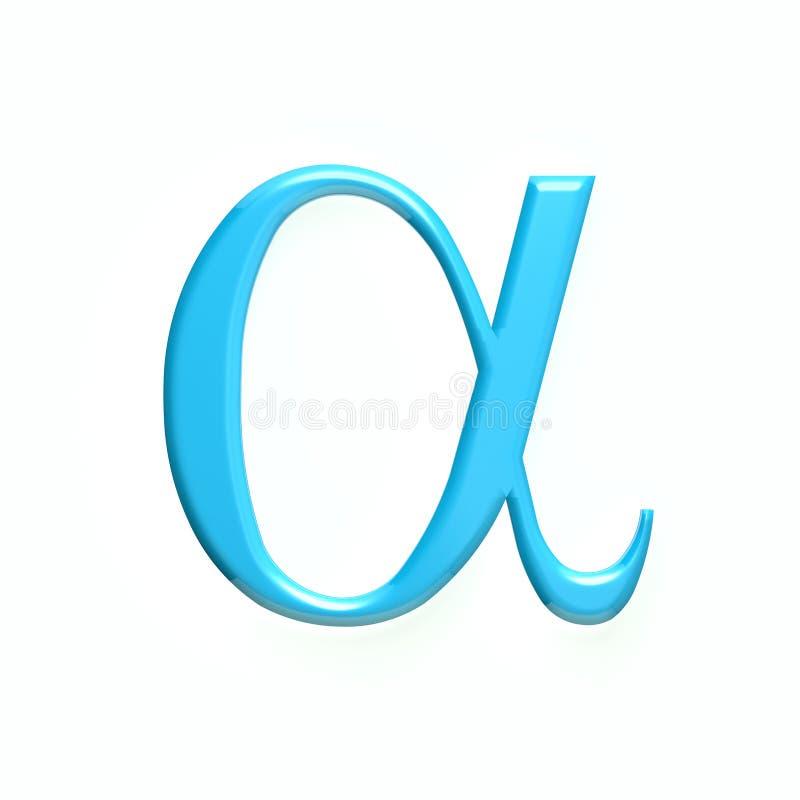 阿尔法数学符号 截去容易的编辑文件例证的3d包括了路径翻译 皇族释放例证