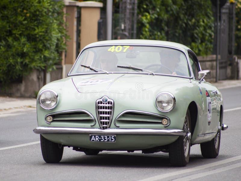 阿尔法・罗密欧1900游览1956年的超级Sprint 免版税库存图片