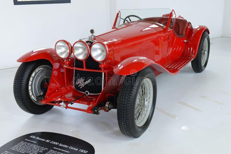 阿尔法・罗密欧8C 2300葡萄酒汽车 免版税图库摄影