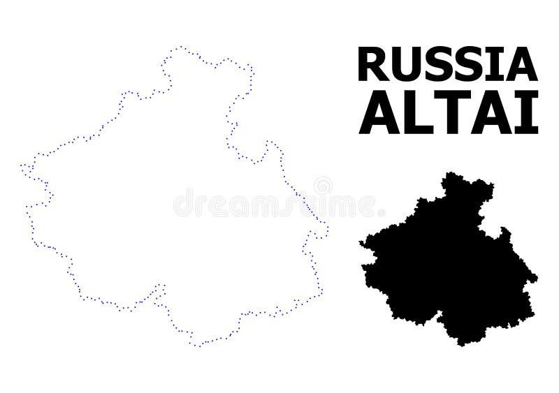 阿尔泰共和国传染媒介等高被加点的地图有说明的 皇族释放例证