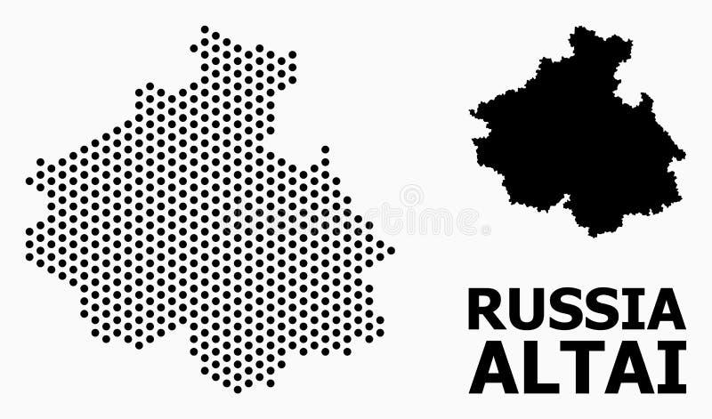 阿尔泰共和国光点图形地图  皇族释放例证