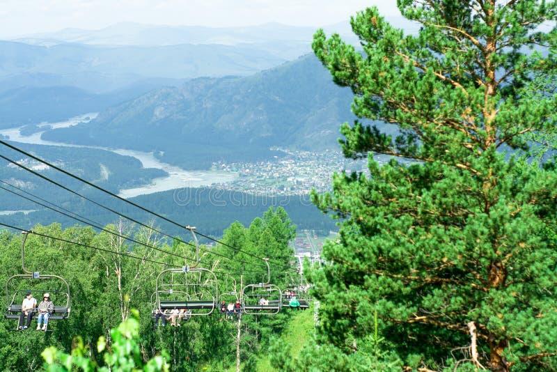 阿尔泰的山和河 库存照片