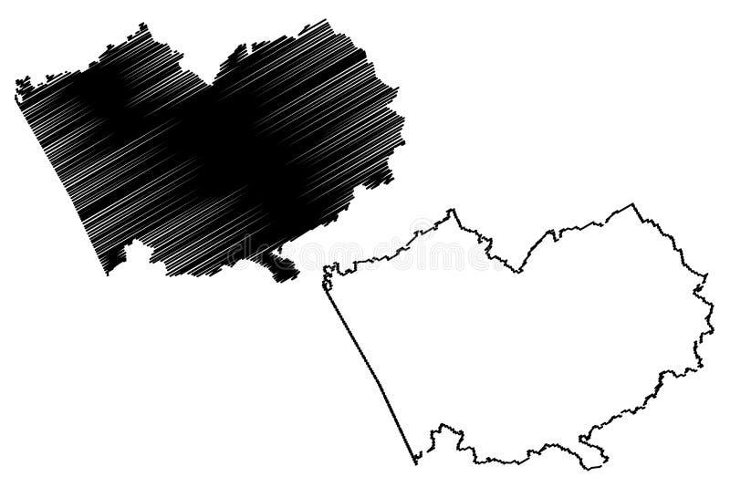 阿尔泰边疆区地图传染媒介 向量例证