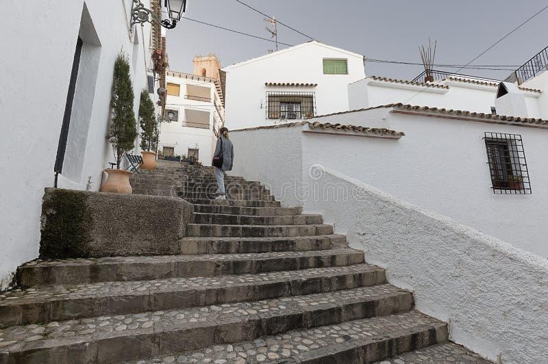 阿尔特阿俏丽的村庄的街道  免版税库存照片