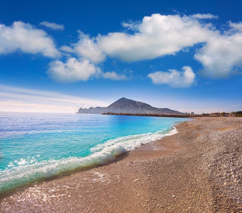阿尔特阿海滩Playa拉罗达在阿利坎特 库存图片