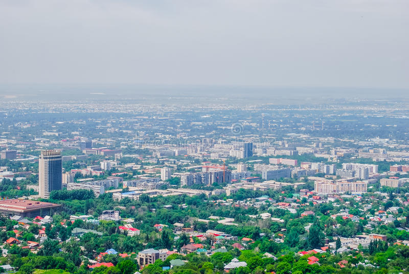 阿尔玛蒂,都市风景,全景 免版税库存照片