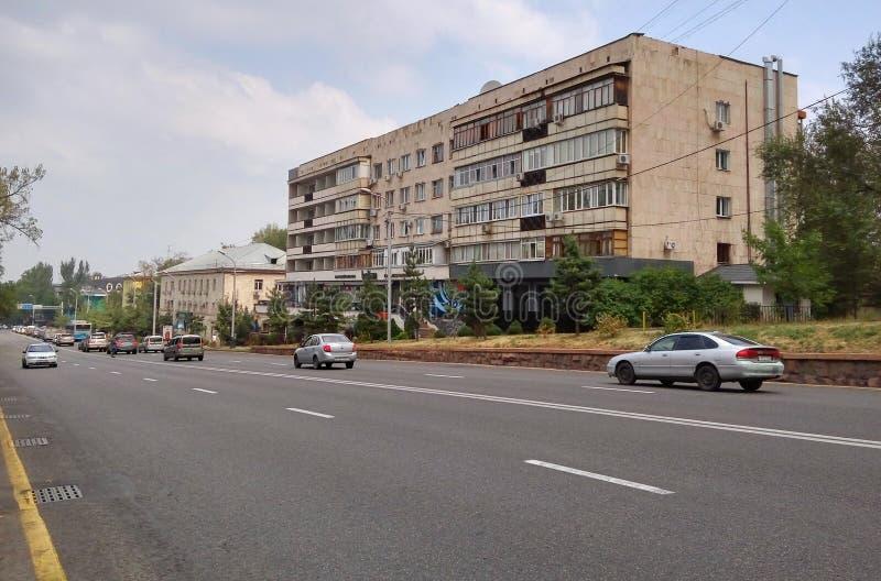 阿尔玛蒂- Furmanov街道  免版税图库摄影