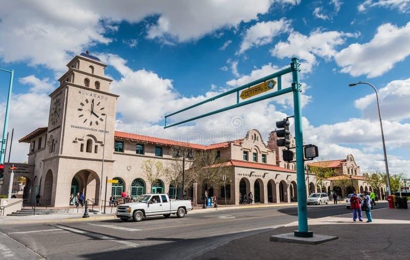 阿尔瓦拉多运输中心-亚伯科基, NM 免版税库存照片