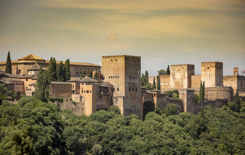 阿尔罕布拉奥斯陆王宫堡垒和城堡在格拉纳达 库存图片