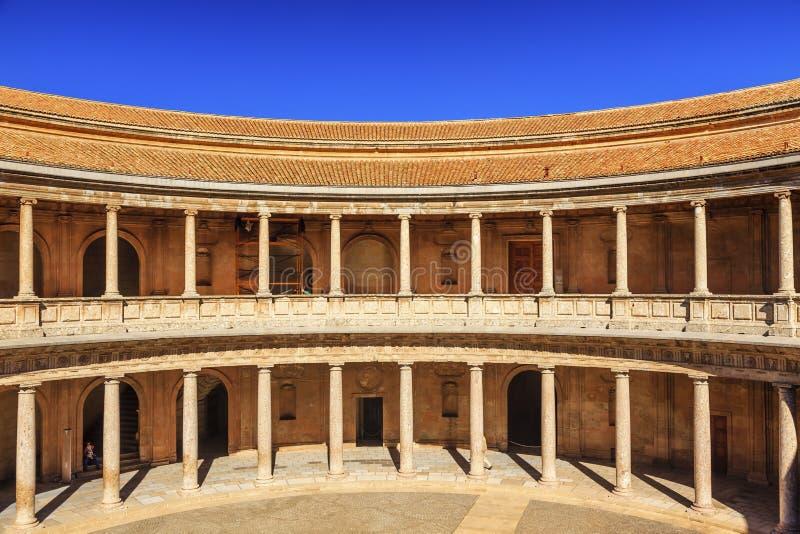 阿尔罕布拉宫宫殿卡洛斯第5格拉纳达安大路西亚西班牙 图库摄影