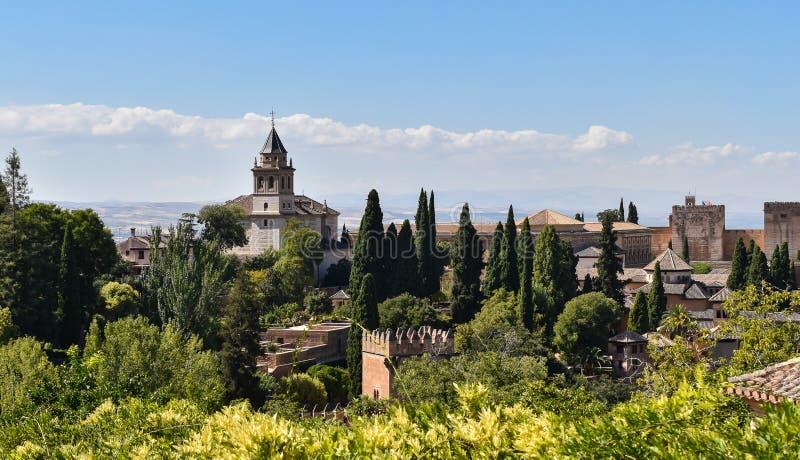 阿尔罕布拉宫宫殿和堡垒复合体,格拉纳达,西班牙 免版税库存照片