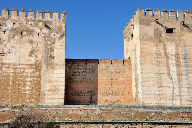 阿尔罕布拉宫宫殿塔在格拉纳达 库存照片
