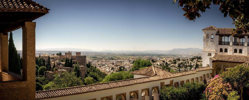 阿尔罕布拉宫宫殿的赫内拉利费宫 免版税库存照片