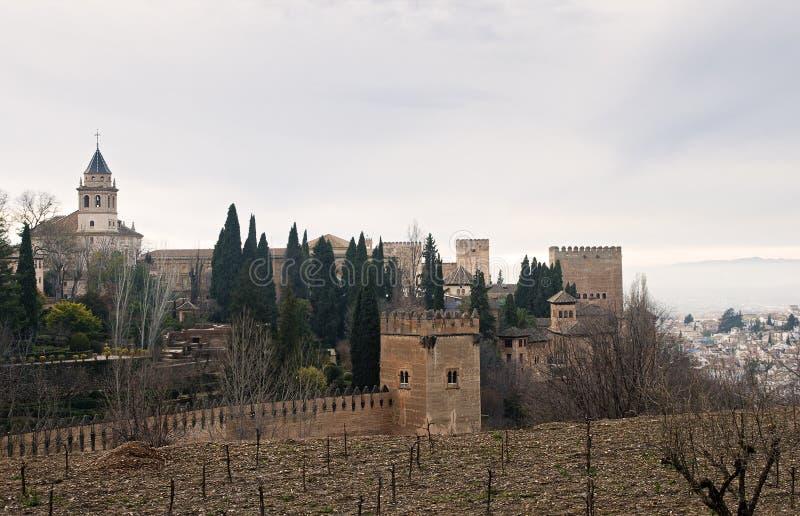 阿尔罕布拉宫宫殿,西班牙 免版税库存图片