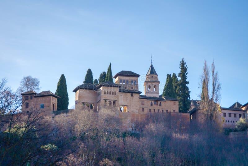 阿尔罕布拉宫宫殿 格拉纳达西班牙 免版税图库摄影