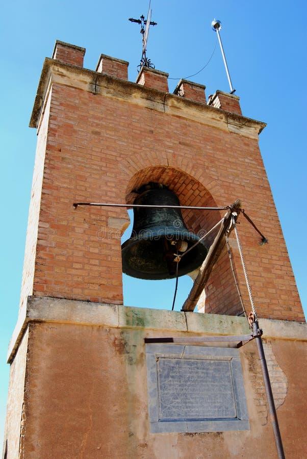 阿尔罕布拉宫钟楼,格拉纳达宫殿  库存图片