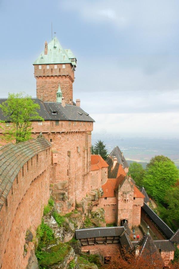 阿尔萨斯城堡法国haut koenigsbourg 库存照片