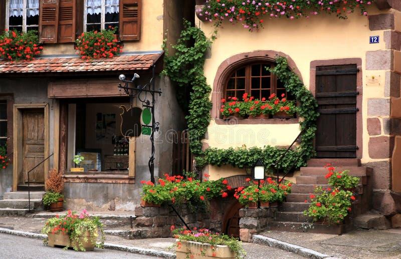 阿尔萨斯法国法语村庄 库存图片