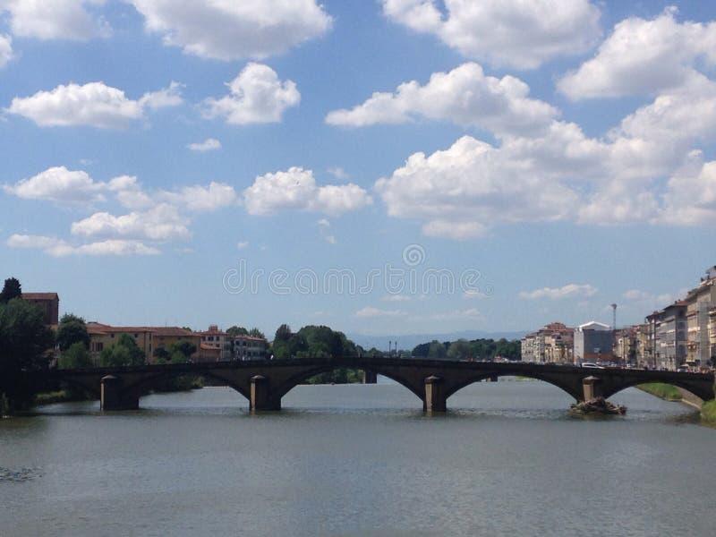 阿尔诺河桥梁 库存照片