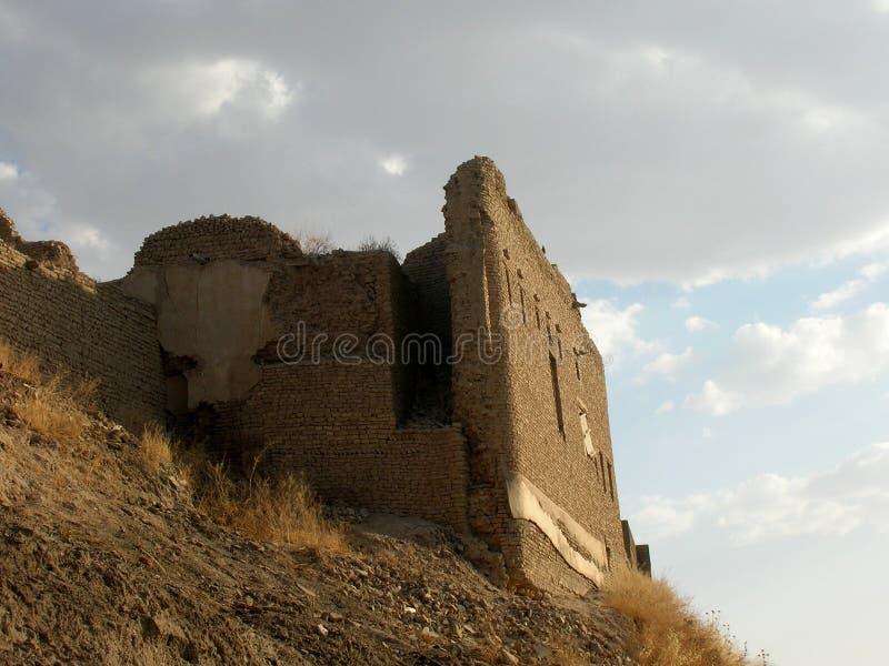 阿尔贝拉,伊拉克城堡  库存照片
