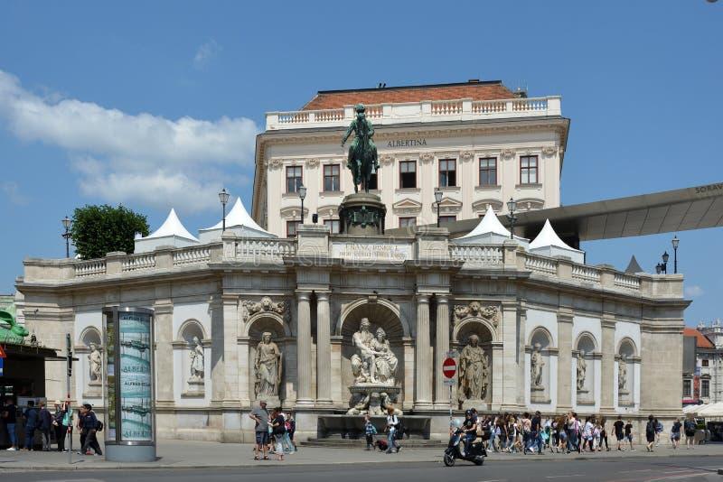 阿尔贝蒂娜博物馆博物馆在维也纳-奥地利 免版税库存图片