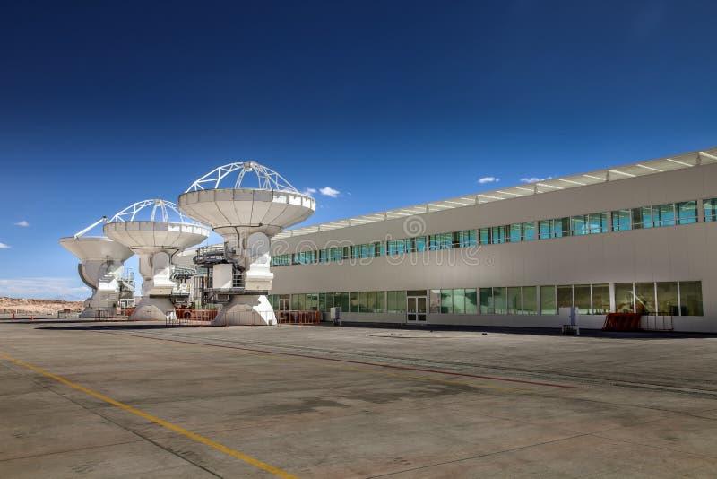 阿尔马,全世界最大的望远镜列阵的基地,智利 免版税库存照片