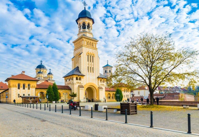阿尔巴尤利亚,特兰西瓦尼亚,罗马尼亚堡垒  免版税库存照片