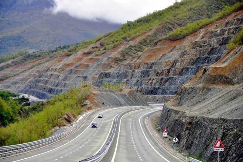 阿尔巴尼亚高速公路 库存照片