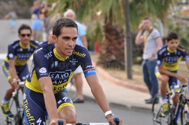 阿尔贝托Contador,环法自行车赛2013年 免版税库存照片