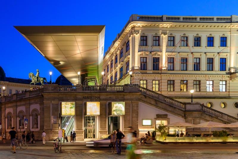 阿尔贝蒂娜博物馆博物馆在维也纳 免版税库存照片