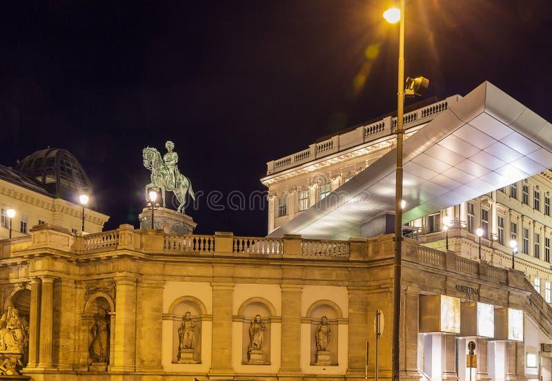 阿尔贝蒂娜博物馆,维也纳 库存图片