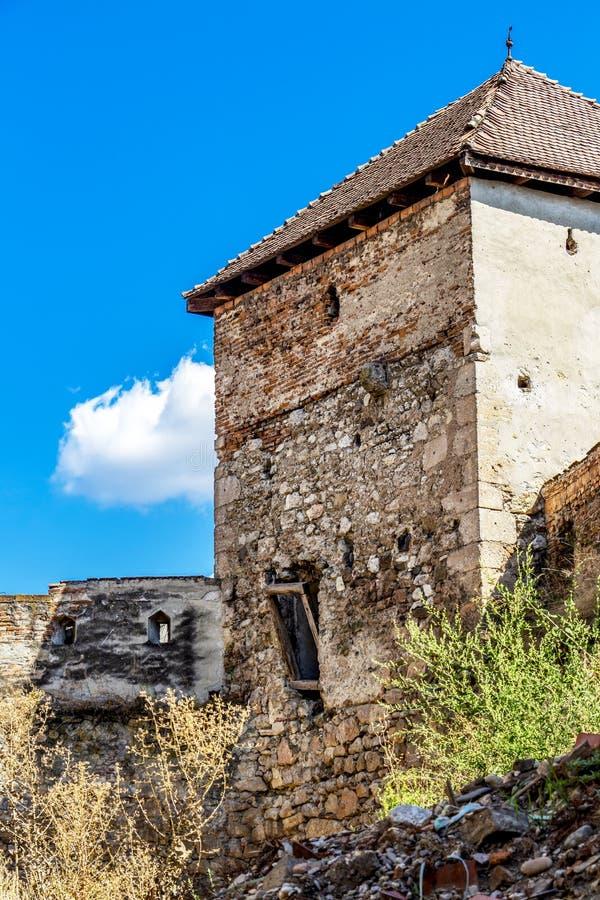 阿尤德城堡塔在罗马尼亚 库存照片